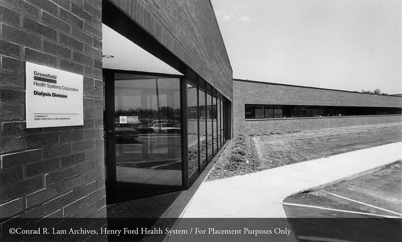 Greenfield Health Systems Corporation Dialysis Division. From the Conrad R. Lam Collection, Henry Ford Health System. ID=09-020