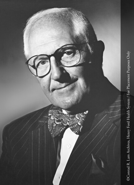 Robert J. Vlasic, HFH Board Trustee, 1981. From the Conrad R. Lam Collection, Henry Ford Health System. ID=09-013