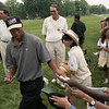 101494_537<br /> HUTCHIN'S 7TH GRADERS AT US OPEN, TIGER WOODS, 1996