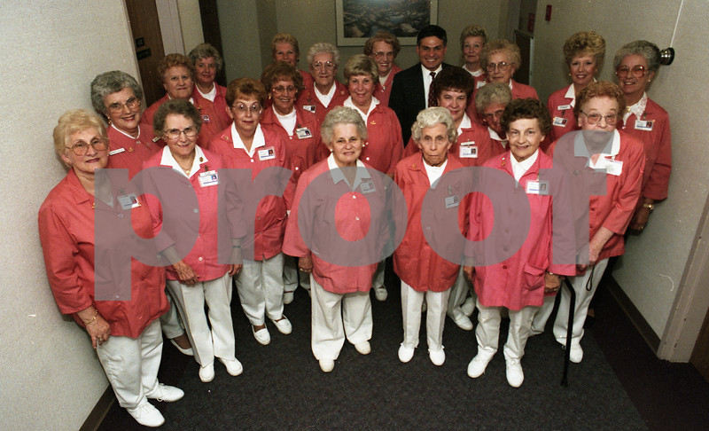 Bill Alvin with WYANDOTTE VOLUNTEERS, 1995
