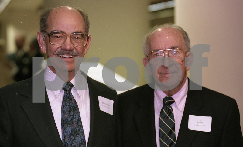 101494_353 Dr. Raymond Mellinger (left) and Dr. John Sigler, DONOR WALL Dedication, 1995