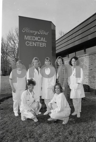 101494_319 STAFF AT ROYAL OAK MEDICAL CENTER, MARTY RACY, NANCY RIVARD AND MAXWELL HERRING