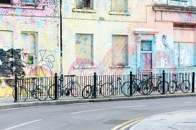 Painted wall of a pub in Hackney Wick, London, United Kingdom