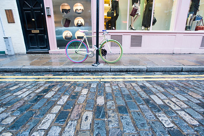 Bicycle in Covent Garden, London, United Kingdom