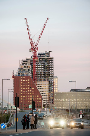Construction site at former Olympic Park, London, United Kingdom