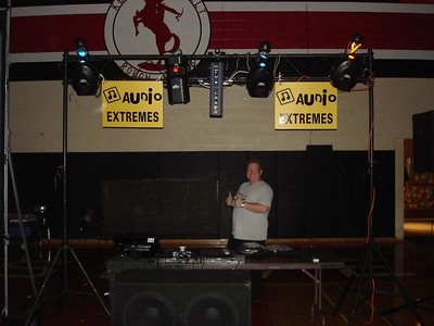 DJ D Boy doing is famous THUMBS UP saying we are ready to rock.