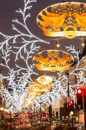 Regent Street during Christmas season, London, United Kingdom