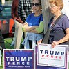 Kristi Garabrandt — The News-Herald <br> Spectators watch as former New York City Mayor Rudy Giuliani speaks.