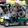 Sam Buckner for Shaw Media.<br /> The band car whizzes by early in the parade on Wednesday October 4, 2017.