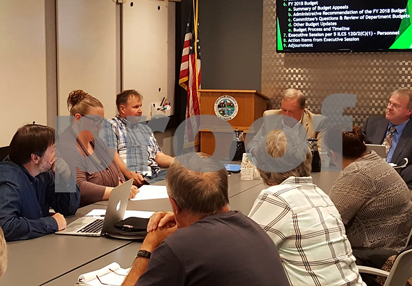 Members of the DeKalb County Board Finance Committee discussed possible ways to close a $740,000 hole in the budget Wednesday night in Sycamore.