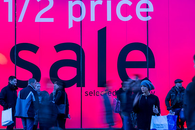 Sales time, Oxford Street, London, United Kingdom