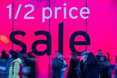 Sales time, Oxford Street, London, United Kingdom