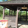 Betsy Scott — The News-Herald <br> This gazebo behind Chardon High School was repurposed for a Reflection Center at Chardon Living Memorial Park, 220 Basquin Drive.