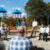 Betsy Scott — The News-Herald <br> Chardon Living Memorial Park was dedicated Oct. 7. The park is at 220 Basquin Drive.