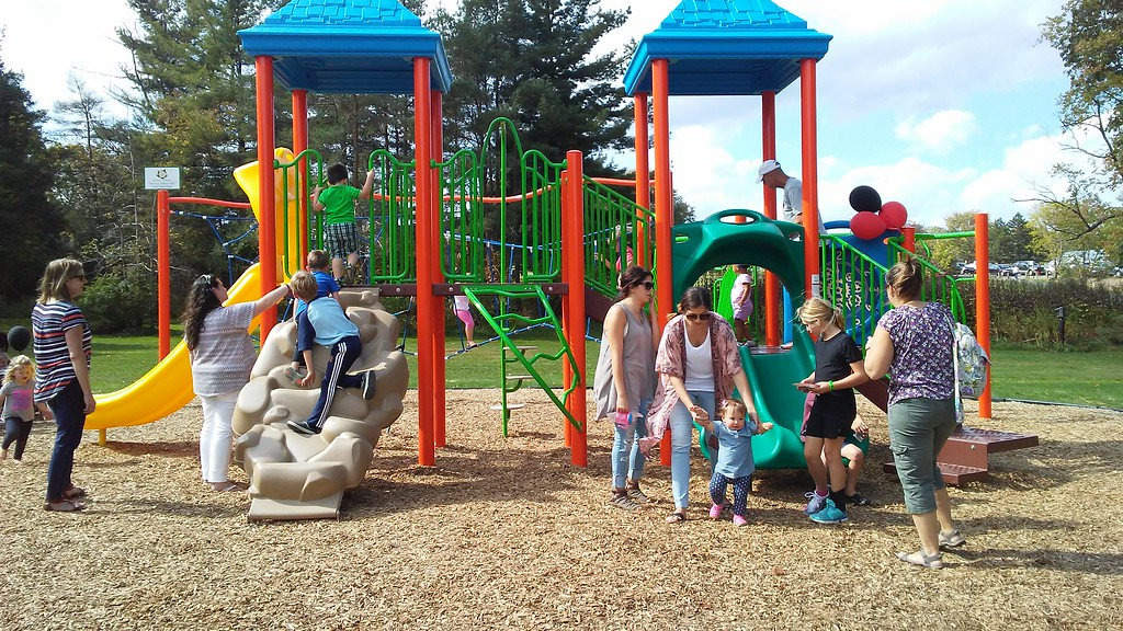 . Betsy Scott � The News-Herald <br> Chardon Living Memorial Park was dedicated Oct. 7. The park is at 220 Basquin Drive.