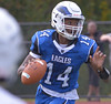 Norristown's Izaiah Webb looks for a receiver Oct. 7, 2017. / Bob Raines--Digital First Media