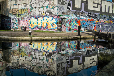 Hertford Canal, Hackney, East London, United Kingdom