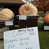 Giant pumpkins were judged at the Huntsburg Pumpkin Fest October 8. (Betsy Scott/The News-Herald)