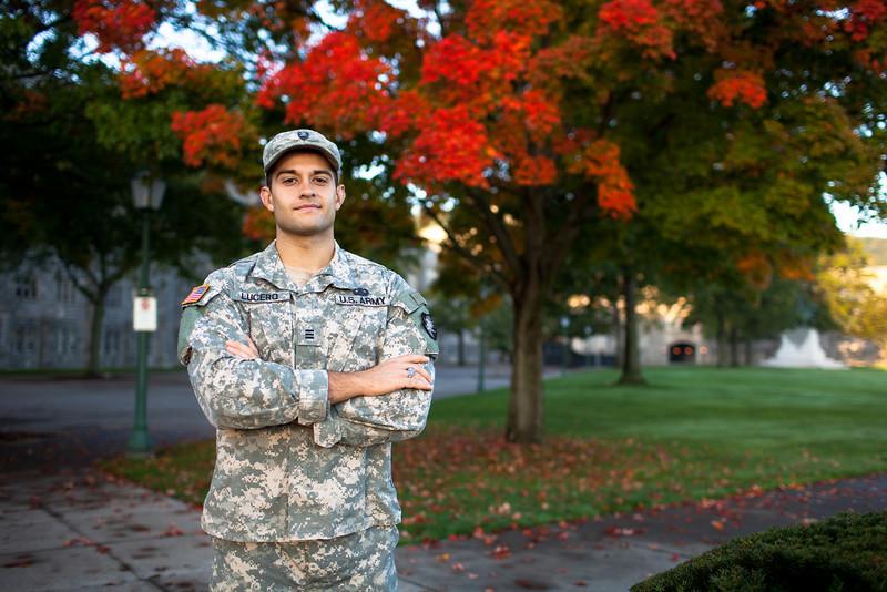 Cadet Daniel Lucero, '13, I3