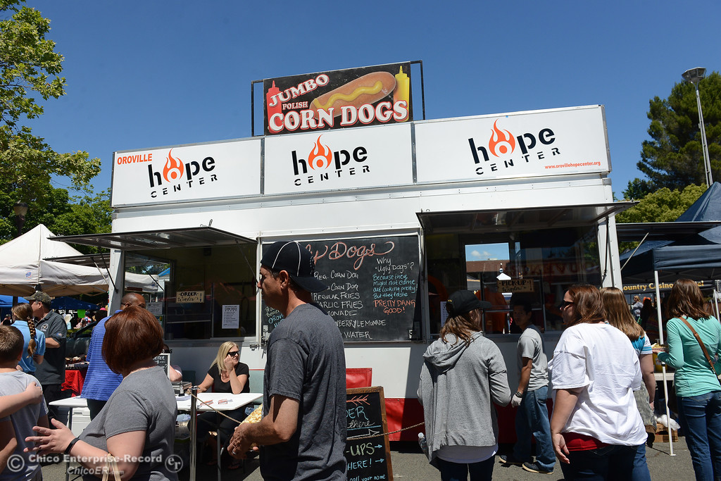. Hope Center Food turck as Feather Fiesta Days feature a parade, a car show, a chili cook off and more Saturday, May 13, 2017, in downtown Oroville, California. (Dan Reidel -- Enterprise-Record)