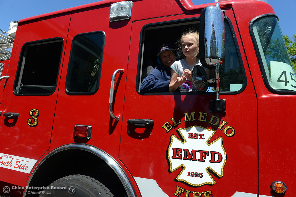 . El Medio Fire department as Feather Fiesta Days feature a parade, a car show, a chili cook off and more Saturday, May 13, 2017, in downtown Oroville, California. (Dan Reidel -- Enterprise-Record)