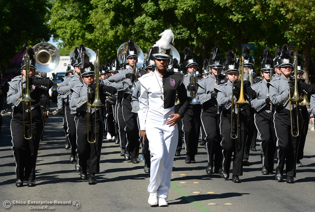 . The Las Plumas-Oroville band as Feather Fiesta Days feature a parade, a car show, a chili cook off and more Saturday, May 13, 2017, in downtown Oroville, California. (Dan Reidel -- Enterprise-Record)