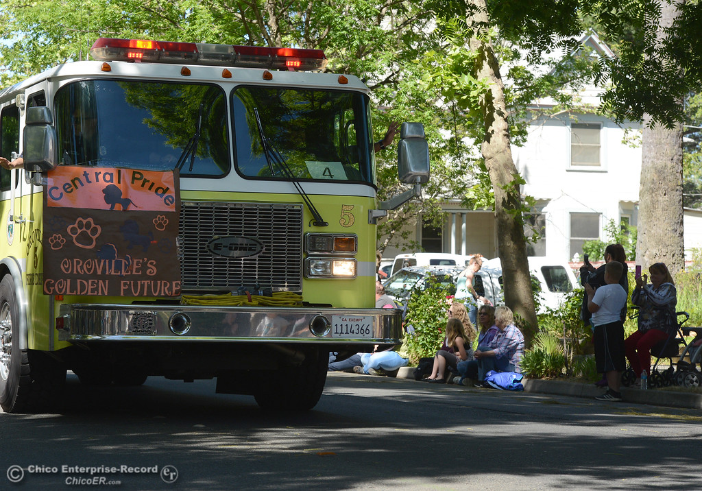 . Oroville Fire Department as Feather Fiesta Days feature a parade, a car show, a chili cook off and more Saturday, May 13, 2017, in downtown Oroville, California. (Dan Reidel -- Enterprise-Record)