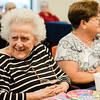Doris Rosseau, born on July 25, 1917, celebrates her 100th birthday at Golden Living Centers in Fitchburg on Thursday, July 27, 2017. SENTINEL & ENTERPRISE / Ashley Green