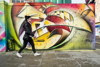 Graffiti on the wall, Hackney, London, United Kingdom