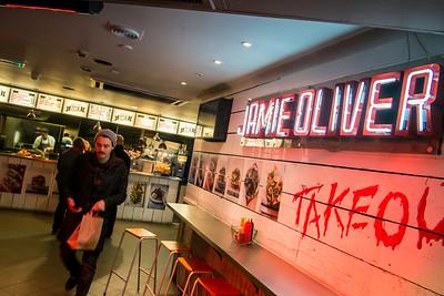 Jamie Oliver fast food shop, Shaftesbure Avenue, London, United Kingdom