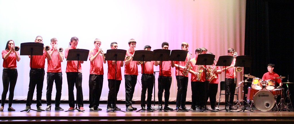. Tawana Roberts � The News-Herald <br> Harvey High School Jazz Ensemble performs at Hispanic Heritage Night on Oct. 11.