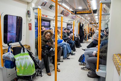 Overground train, London, United Kingdom