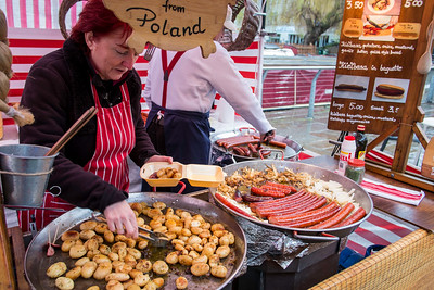 Stall selling Polish food, Camden Lock, NW1, London, United Kingdom