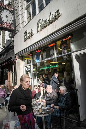 Bar Italia on Frith Street, London, United Kingdom
