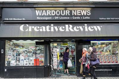Shops on Wardour street, London, United Kingdom