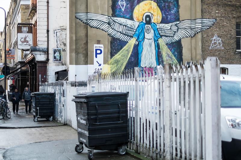 Graffiti on the wall, London, United Kingdom