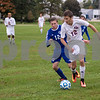 Sam Buckner for Shaw Media.<br /> Matthew McCluskey dribbles around a Westminister Christian player during the regional semi-final game on Wednseday October 12, 2016.