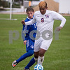 Sam Buckner for Shaw Media.<br /> Jesus Lara drives past a Westminister Christian player during the Regional semi-final game on Wednesday October 12, 2016.
