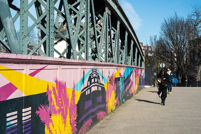 Painted bridge in Camden, NW1, London, United Kingdom