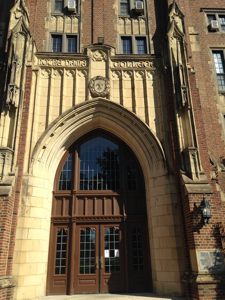 Entry arch,  main building