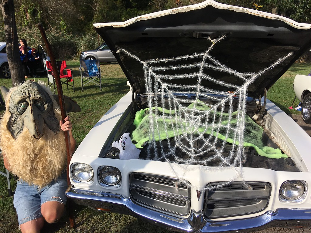 . A troll guards a haunted car Oct. 14 at the Painesville Fall Fest & Trunk or Treat event at Kiwanis Recreation Park. (Tracey Read-News-Herald)