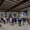 Saturday's benefit at DeKalb Taylor Municipal Airport had a backdrop that included a World War II jeep, two North American P-51 Ds and a vintage American flag that was about 25 feet by 40 feet, donated for permanent display by the St. Charles American Legion Post 342.