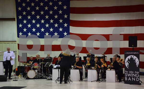 The fundraiser at DeKalb Taylor Municipal Airport on Saturday was hosted by Experimental Aircraft Association Chapter 241 and featured live music by the Lakes Area Swing Band and dance lessons by Carl Linder and Karrie Willis.