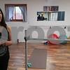 J'Studio owner Jennifer Jones (left) and yoga instructor Lisa Ruehl bask in the fitness center's new space at 114 N. Washington St., Genoa.
