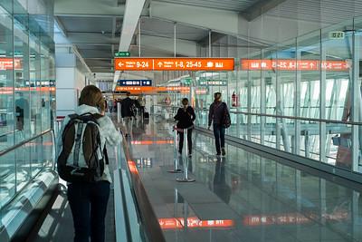 Modern Chopin Airport, Warsaw, Poland