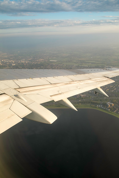 Taking off from Heathrow airport, London, United Kingdom