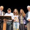 Dr. Alex Greenberg, Poet Gerald Stern, Aurie Greenberg '18, Elliane Greenberg '20, Fred Daly