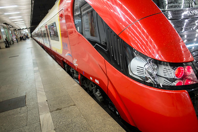 Modern transport, Warsaw, Poland