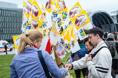 Mass to celebrate canonization of Pope John Paul the Second as saint, Pilsudski Square, Warsaw, Poland