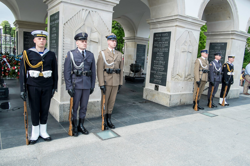 Change of the guard, Unknown Soldier Monument, Pilsudski Square, Warsaw, Poland